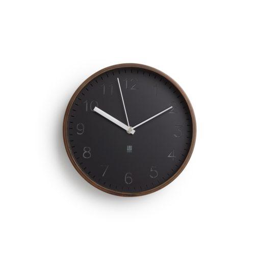 tmavé hodiny Rimwood s dřevěným rámeškem