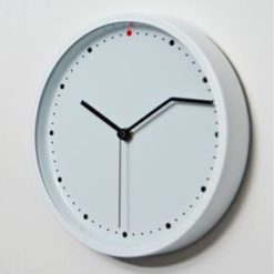 hodiny na zeď kulaté bílé