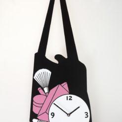 nástěnné hodiny dívčí kabelka