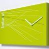 hodiny Timeline v zelené barvě