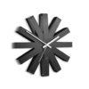 ocelové nástěnné hodiny Ribbon