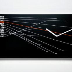 černé designové hodiny na zeď