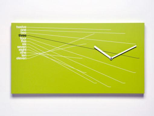 zelené moderní hodiny