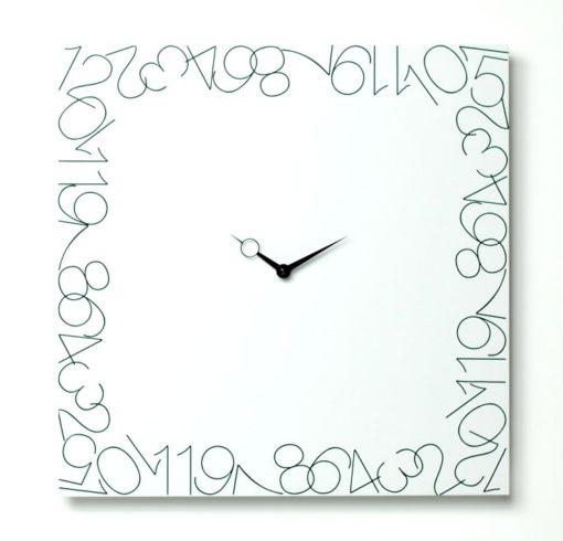 hodiny do kuchyně čtverec bílé