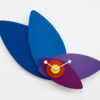Modré designové hodiny Petali