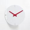 designové hodiny Sheet bílé