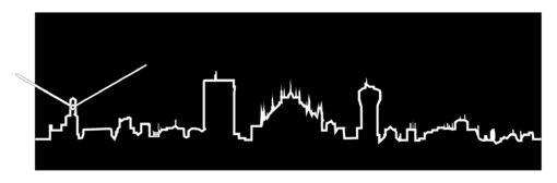 černé provedení hodin Skyline Milano
