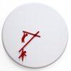 bílé hodiny Time2Play s červenými ručičkami