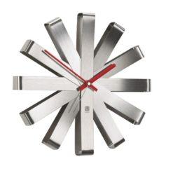 nástěnné hodiny ocelové