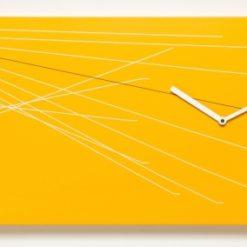 oranžové nástěnné hodiny Timeline