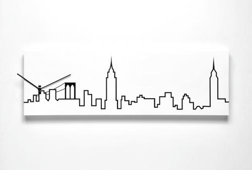 Moderní hodiny ze série Skyline pro milovníky New Yorku