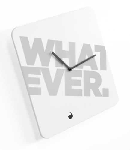 dřevěné hodiny Whatever