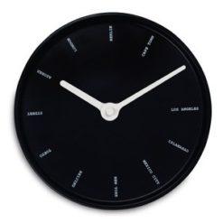 černé kulaté nástěnné hodiny World