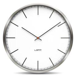 elegantní nástěnné hodiny nerez