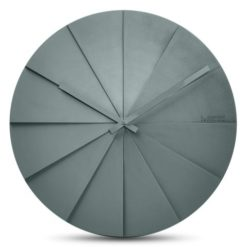 moderní šedé hodiny nástěnné