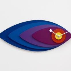 modré nástěnné hodiny Petali
