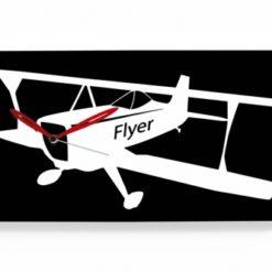 nástěnné hodiny s letadlem