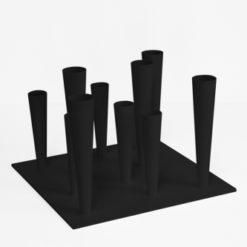 deštníkový stojan kovový černý Flut