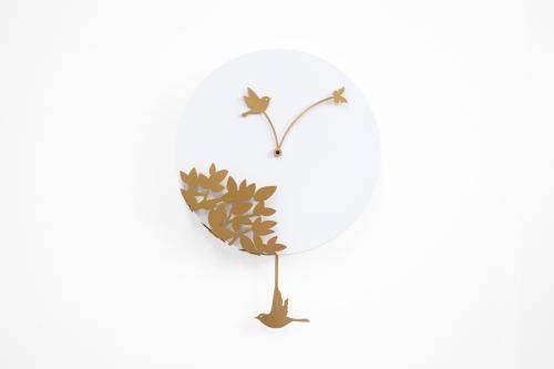 bílé kyvadlové hodiny Little Bird Story