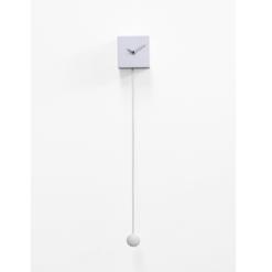 Bílé kyvadlové hodiny Long time