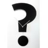 kyvadlové hodiny černé tvar otazník