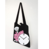 dívčí hodiny na stěnu ve tvaru kabelky černé
