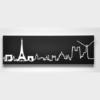 hodiny na stěnu s motivem Paříže
