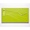 obdélníkové hodiny zelené na stěnu