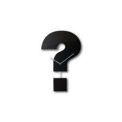 černé kyvadlové hodiny Question time