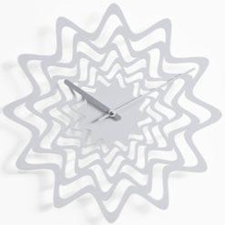 bílé hodiny nástěnné Flux Progetti