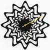 designové nástěnné hodiny Flux černá barva
