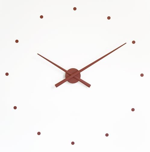 hnědé hodiny na zeď model Oj