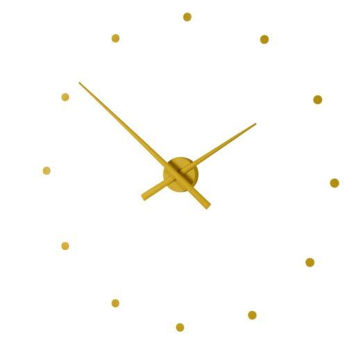 hořčicové nástěnné hodiny Nomon série Oj