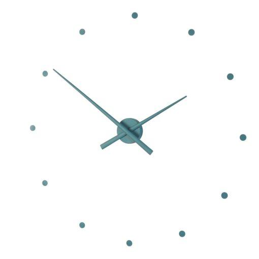 Oj nástěnné hodiny v barvě ultramarine green