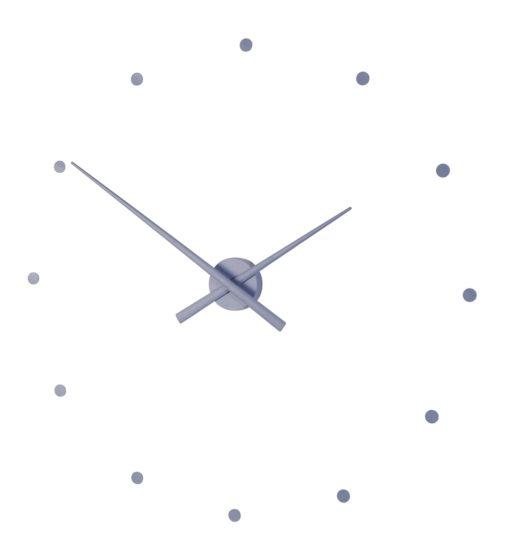 designové hodiny Nomon Oj v barvě steel blue