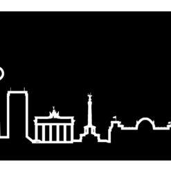 moderní hodiny na zeď Skyline Berlino