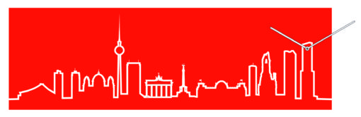 moderní designové hodiny Skyline Berlino