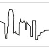 Bílé hodiny Skyline Hong Kong