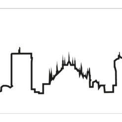 Hodiny Skyline Milano bílé