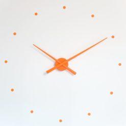 oranzove nastenne hodiny nalepovaci