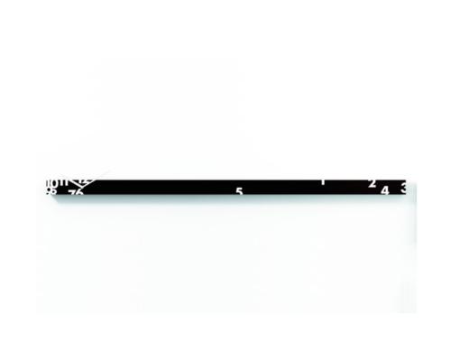 dlouhé nástěnné hodiny černé designové