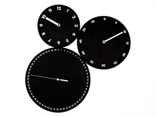 originální černé nástěnné hodiny kulaté