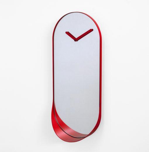 nástěnné hodiny a zrcadlo v jednom
