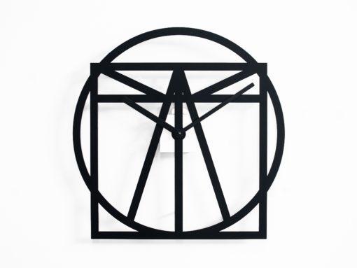 černé moderní hodiny kovové