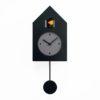 hodiny s kyvadlem černé moderní