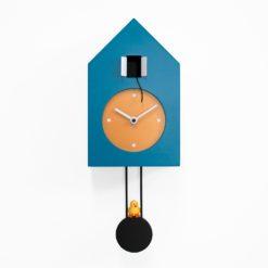 kyvadlové hodiny nástěnné modré z lakovaného dřeva