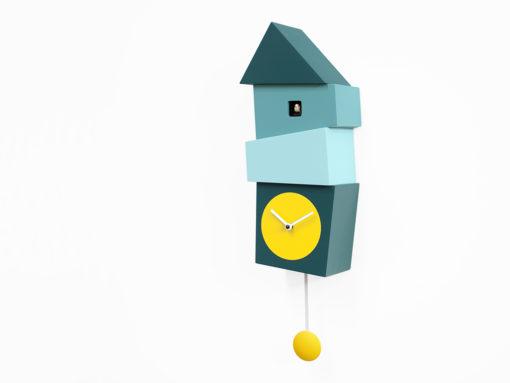 kukačky Crooked v kombinaci modré a žluté barvy