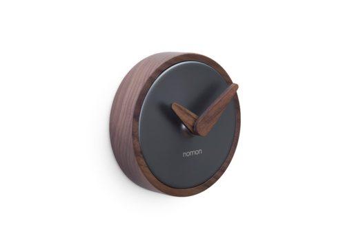 luxusní nástěnné hodiny malé z ořechového dřeva