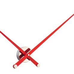 velké nástěnné hodiny červené ručičky luxusní