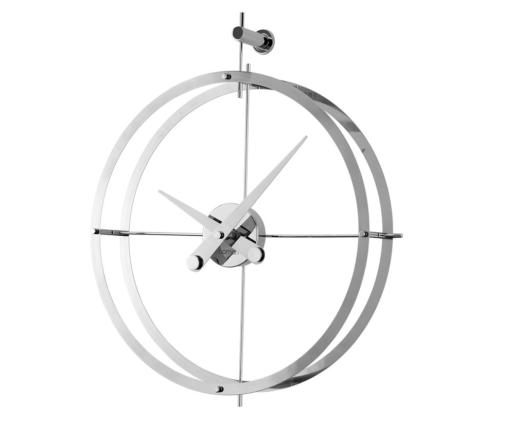 ocelové nerezové hodiny zavěšené na stěnu kulaté velké luxusní design